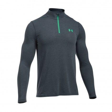 Under Armour Threadborne Fitted Zip shirt heren stealth grey De Wit Schijndel @underarmour #shirt#underarmour #fitness #sport