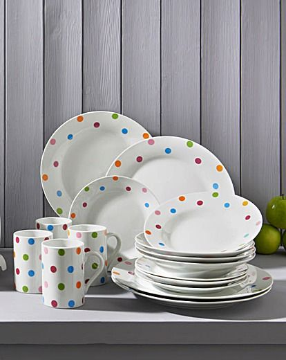 A classic yet contemporary Rainbow Spot design with colour dots reflective of the latest trend palettes to add a splash of style to any kitchen!