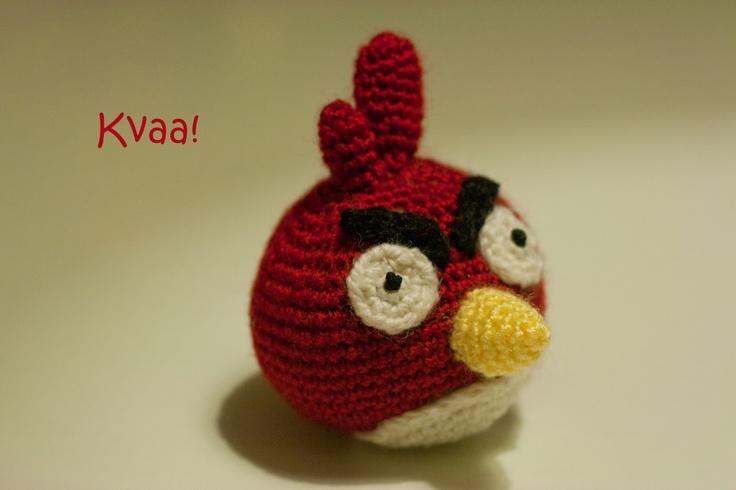 Red Angry Bird -amigurumi