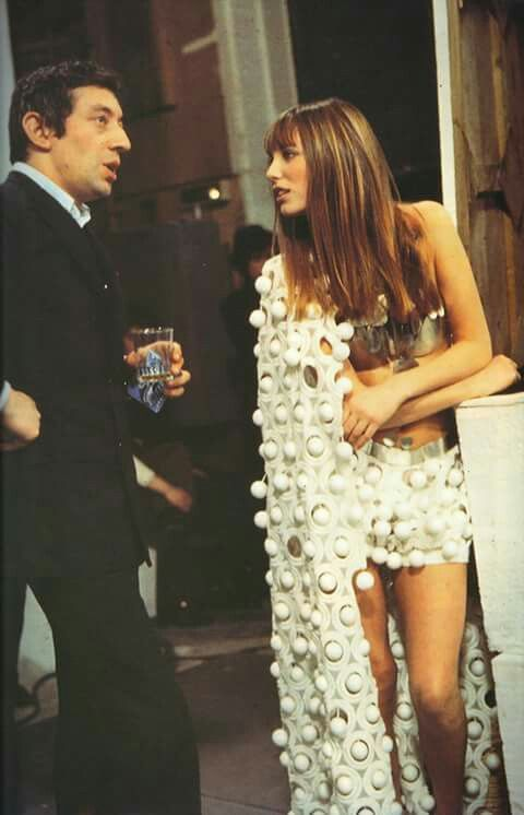 Jane Birkin and Serge Gainsbourg, 1970.