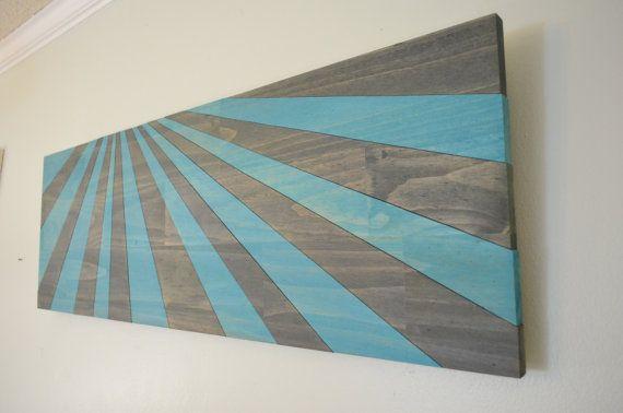 Shark Fin Soup wooden wall art by StainsAndGrains