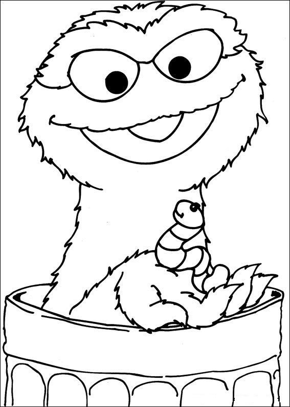 sesame coloring pages | 29 best images about Sesame Street on Pinterest | Coloring ...