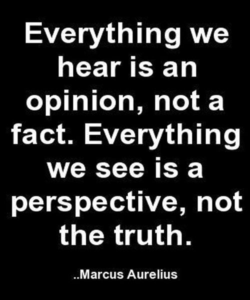 Everything We See Is a Perspective - Wise Quote... Maybe not EVERYTHING...