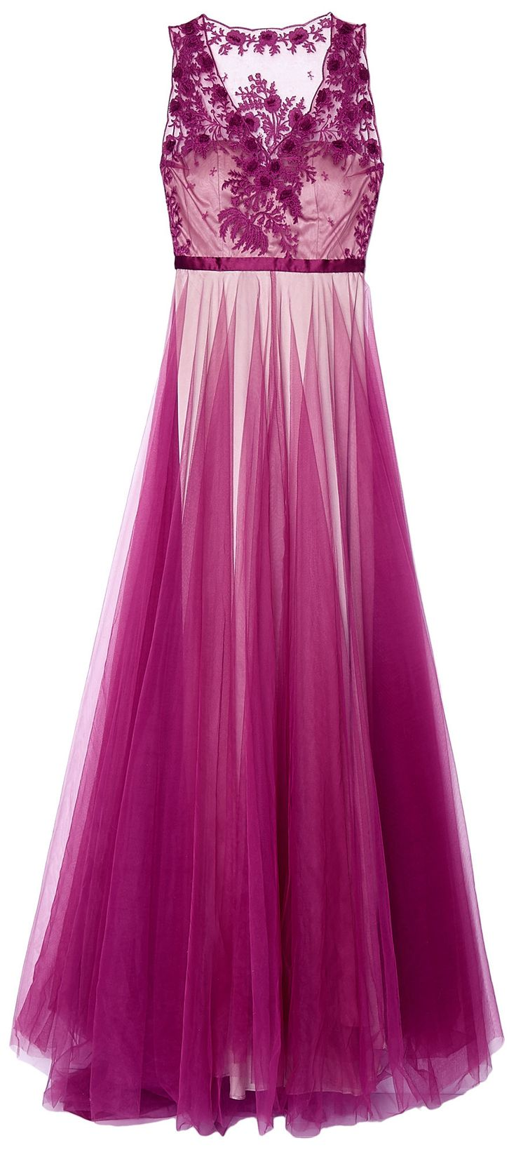 Catherine Deane Purple Magenta Prarie Embroidered Gown. For my beauty sleep :)