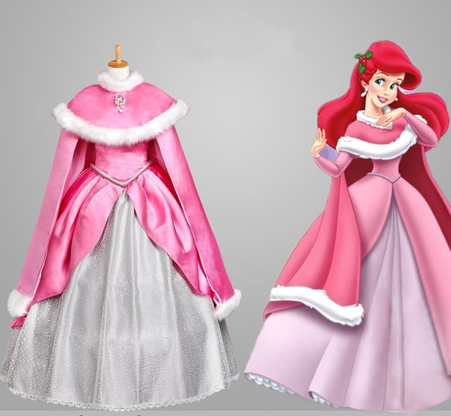 Fadas cauda de sereia traje cosplay rapunzel para meninas dress adulto princesa belle fantasias para crianças cauda de sereia dress personalizado
