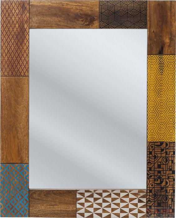 KARE Design - Mirror soleil A beautiful mirror in wood and warm colour. #kare #karedesign #mirror #soleil #summer #wood #spiegel #holz #farbe #colour #bunt