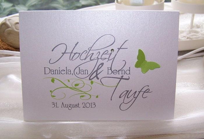 Hochzeit+Taufe Einladung | Einladungskarten | Pinterest | Taufe Einladungen,  Einladungen Und Verzierung