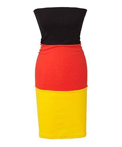 Damen Tube Kleid EM Deutschland 2016 One Size