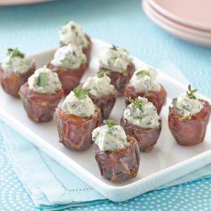 Goat Cheese-Stuffed Dates Recipe | MyRecipes.com