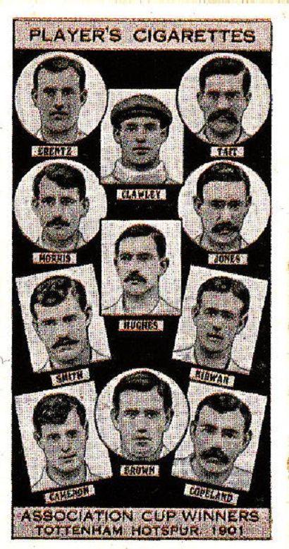 Caja de Cigarrillos, con los jugadores Campeones de la FA CUP 1901, Tottenham Hotspur F.C.