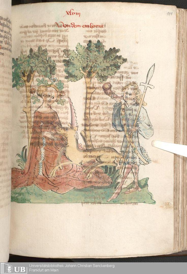 """Das Buch Der Natur"", Hagenua Circa 1440. Page 225 Via: University Goethe Library. http://sammlungen.ub.uni-frankfurt.de/msma/content/titleinfo/1971583"