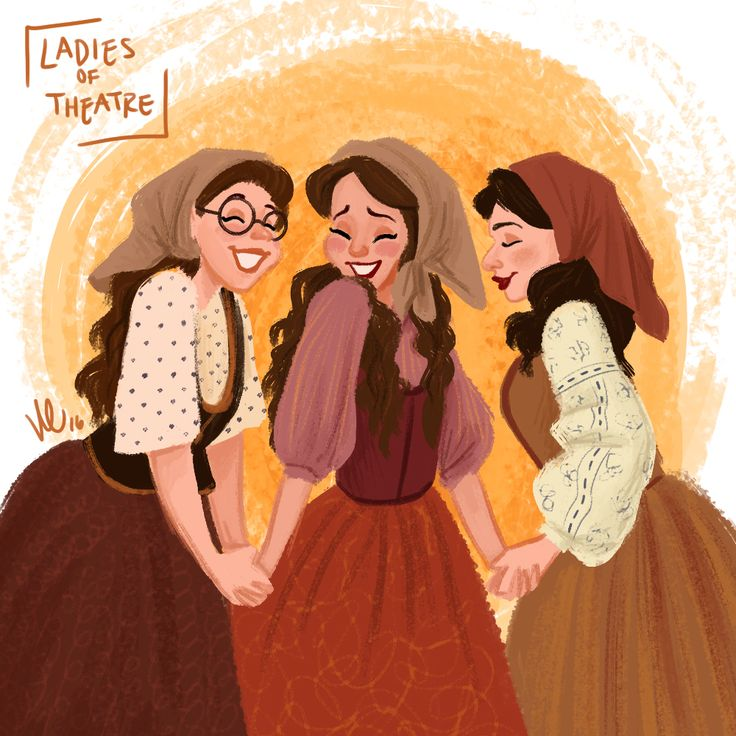 """""""For me, well, I wouldn't holler if he was as handsome as anything!""""Day 26: Chava, Hodel, and Tzeitel from Fiddler on the Roof"""