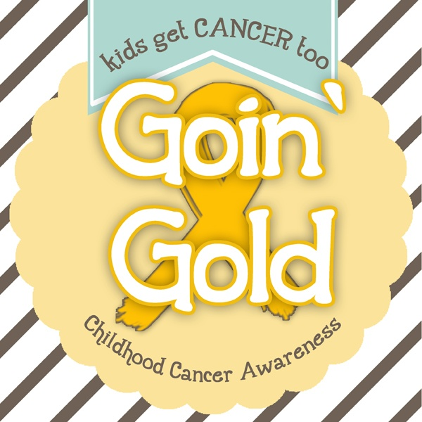 """Sprinkled with Glitter makes a DIY Gold Chevron """"Grateful For You"""" Card, as part of the Goin' Gold Campaign to support Childhood Cancer Awareness."""