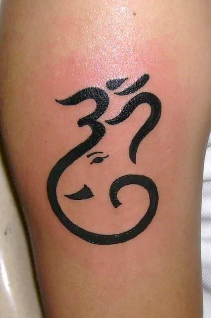 Om Ganesha Tattoo by javagreeen, via Flickr