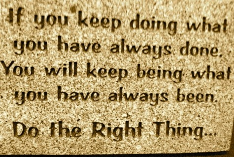 Try right thing at right time