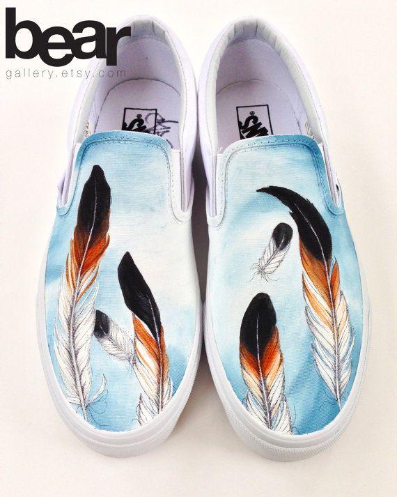 Custom Vans Feathers by BearGallery on Etsy