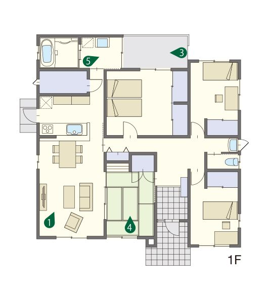 リゾート感のゆとりがある平屋の家|木造住宅の建築実例|MJ Wood|MJウッド|ミサワホームの耐震木造住宅