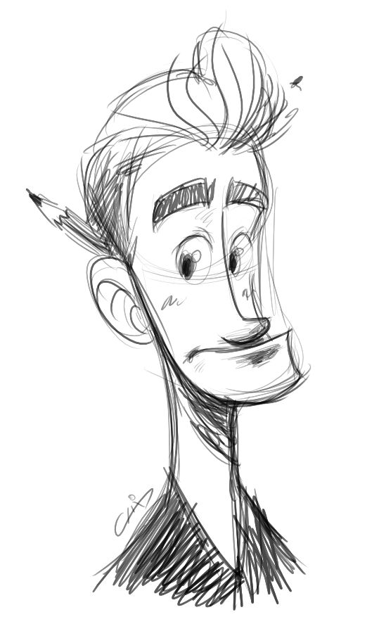 Guy sketch by Luis Arizaga ★ Find more at http://www.pinterest.com/competing/