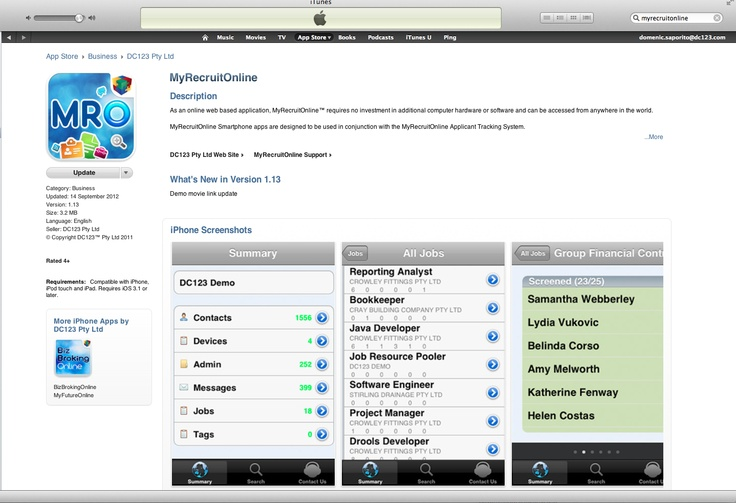 Only #Recruitment Software on the planet that recruiters can process applicants and search candidates on their iPhone