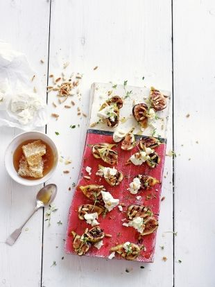 Figs with pine nuts & goat's curd | Jamie Oliver