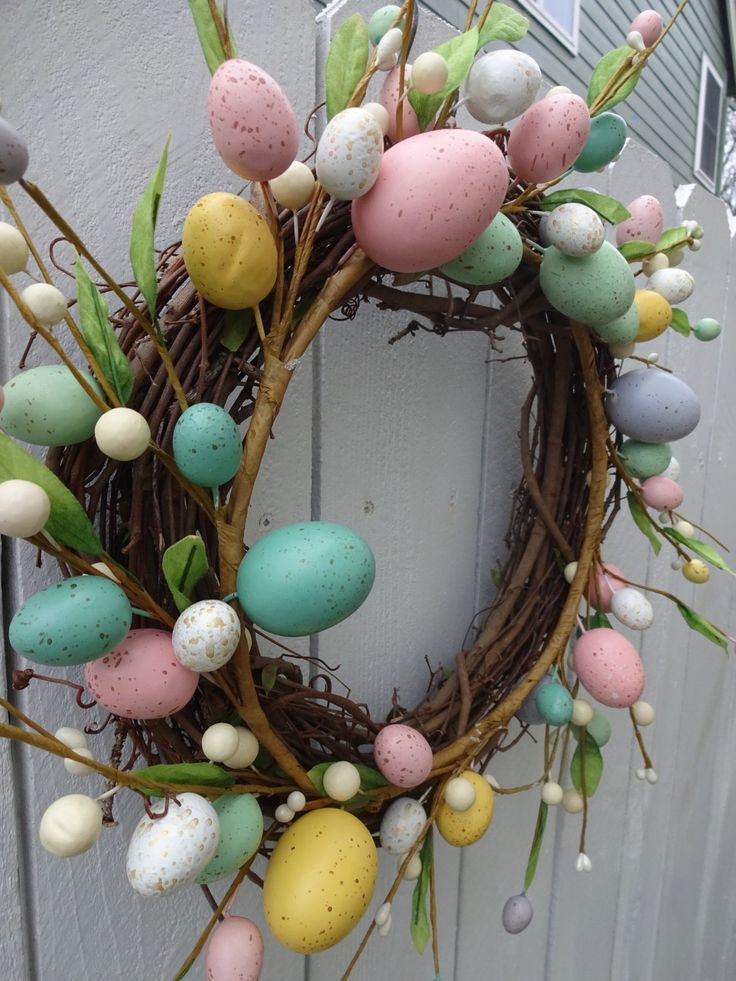 267 best easter wreaths images on pinterest easter wreaths easter wreath easter egg wreath easter gift free shipping easter decor front door wreath spring and negle Gallery