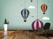 Hot Air balloons wallpaper mural
