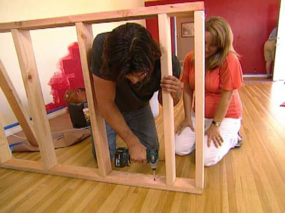 How to Build a Pony Wall Room Divider : How-To : DIY Network