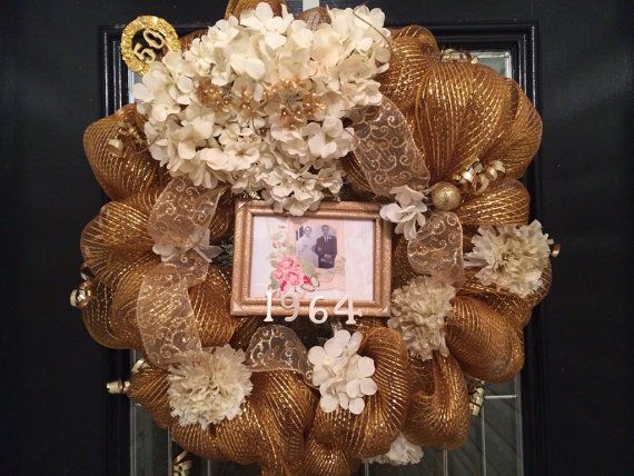 50th Anniversary Wreath Door Hanger Decoration By