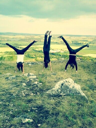 Mikulov town.trying handstand