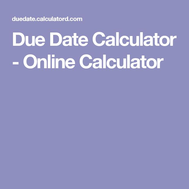 Free online due date calculator