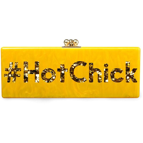 Edie Parker #Hotchick Flavia Clutch ($1,595) ❤ liked on Polyvore featuring bags, handbags, clutches, acrylic purse, edie parker handbags, lucite handbag, lucite purse and edie parker clutches