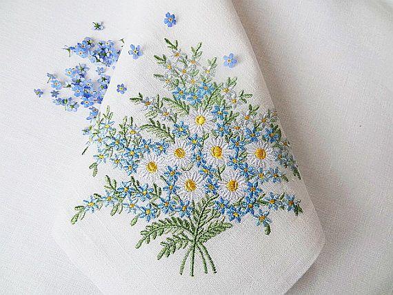 Set of 3 Machine Embroidery Designs  Daisies & by RoyalPresentEmb