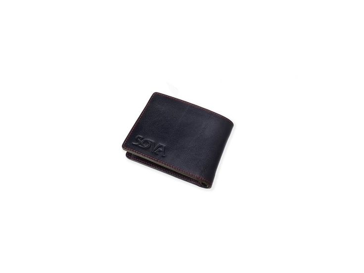 SOVA Pánská kožená peněženka TRE, pro leváky, Nero