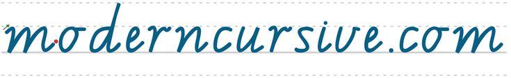 moderncursive.com - Lower case cursive tracing worksheets