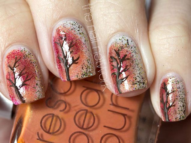 I would never paint my nails like this, but I think it's a pretty cool design.