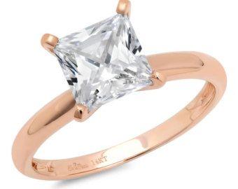 1.10 taglio solitario anello di fidanzamento reale di ClaraPucci
