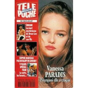 Vanessa Paradis : pourquoi elle a craqué, dans Télé Poche n°1429 du 28/06/1993 [couverture isolée et article mis en vente par Presse-Mémoire]