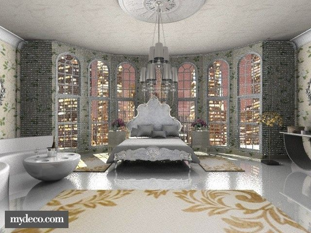 15 best boudoir styles images on pinterest bedroom for Hollywood glam bedroom