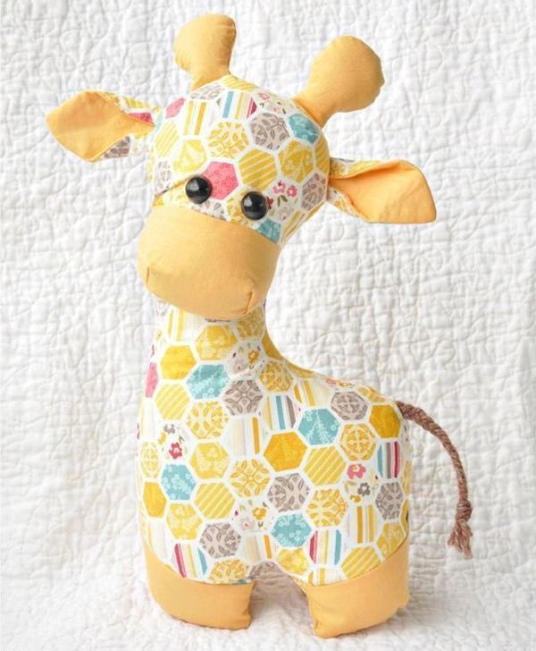Giraffe Sewing Pattern - Toy Animal Sewing Patterns - via FineCraftGuild.com