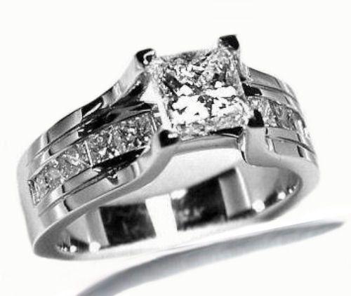 150 ctw Princess Cut Diamond Engagement Ring 14K by PatricksDesign, $1549.00