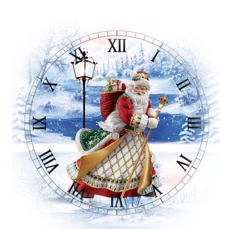 Циферблат новогодних часов картинка