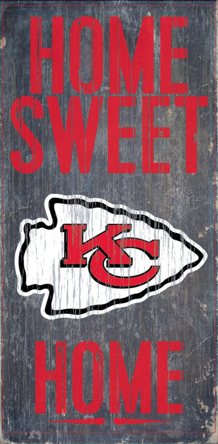 Kansas City Chiefs Wood Sign - Home Sweet Home 6x12
