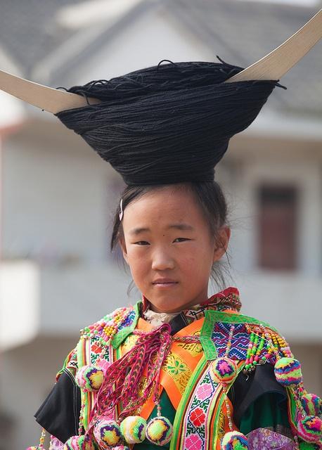 Miao People Hair