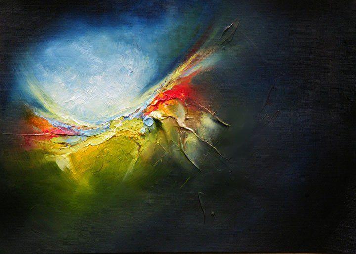 Paul McCloskey, Awakening Reloaded in Blue Green, oil on board, 17  x 12 in.