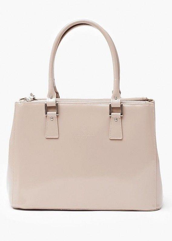 VEZZE TOREBKA SKÓRZANA BEŻOWA Oryginalna torba damska włoskiej produkcji (Vera Pelle) wykonana ze skóry naturalnej najwyższej jakości. Skóra gładka, gruba i sztywna połyskiem. Torba nie odkształca się i nie zagina, dzięki czemu przez cały czas ma niezmien
