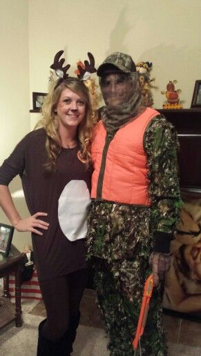 Deer and Hunter Halloween couples costume!  sc 1 st  Pinterest & The 28 best my DIYs. images on Pinterest | Bricolage Diys and Do it ...