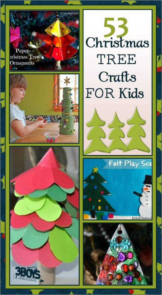 Tis the season of holiday crafts! Check out this list of 53 Christmas tree crafts for kids. (via 3 Boys and a Dog)