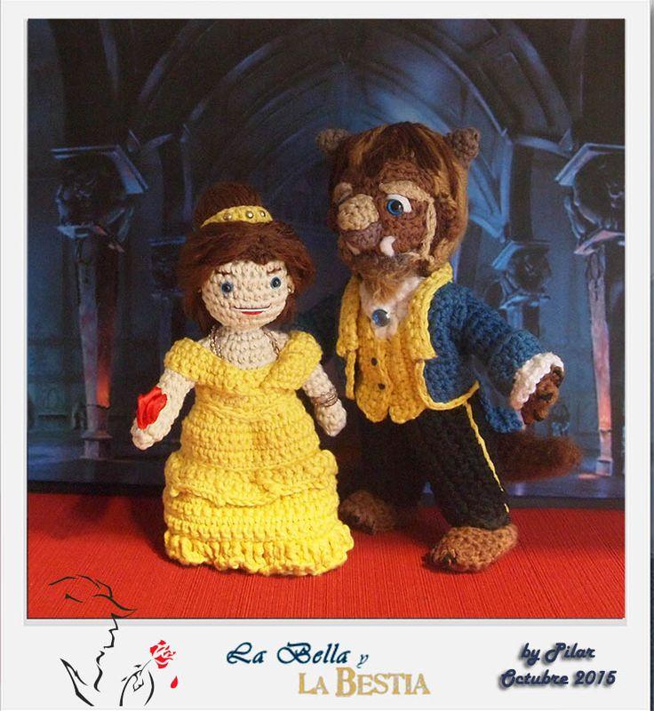 Amigurumi Munecos Disney : #amigurumi #bellaybestia Disney