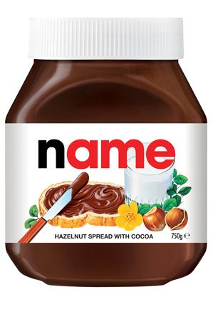 Personalised Nutella from @myermystore . #myer #nutella #christmas