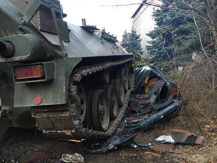 Bratislava Armoured Tank Ride Car Demolition